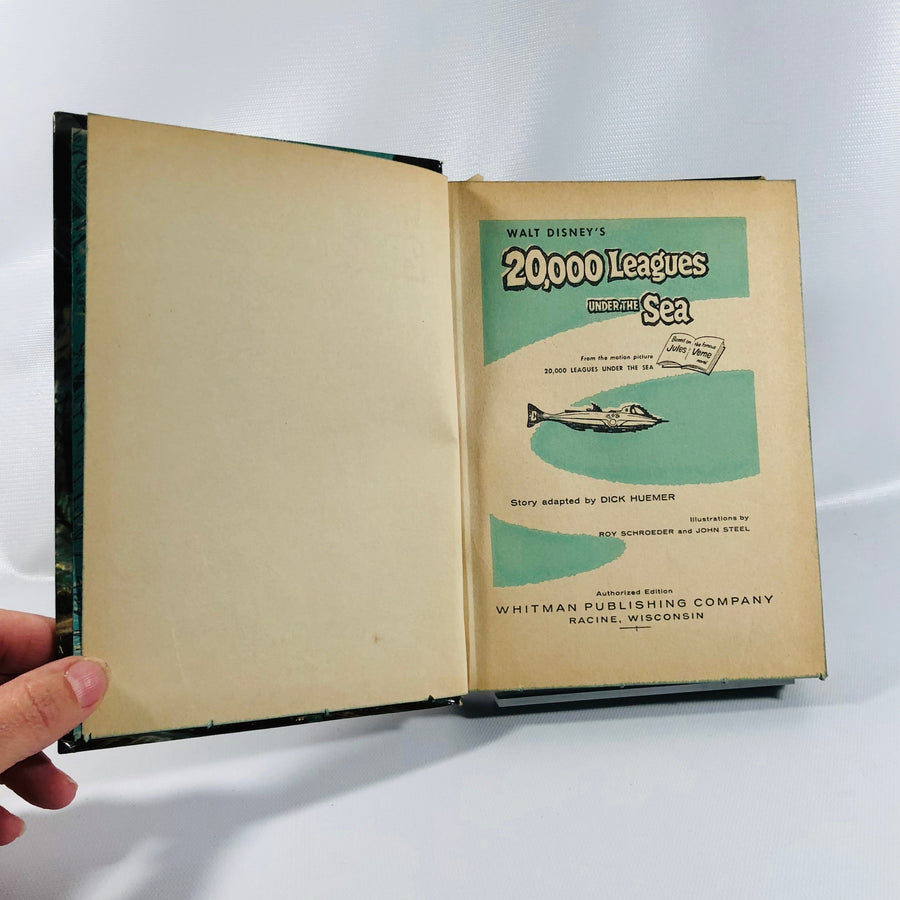 Walt Disney's 2000 Leagues Under the Sea Based on the Juels Vern Novel 1955 Vintage Book