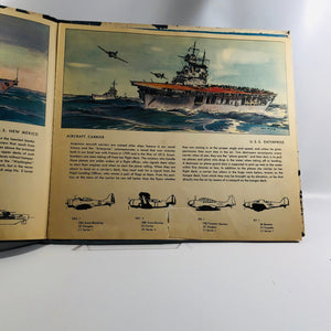 Fighting Ships of The U. S. Navy Text by Fletcher Pratt and Illustrations by Jack Coggins 1941 Vintage Book