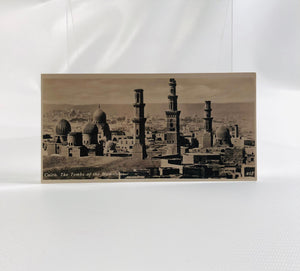 Postcard Souvenir of Egypt, Cairo, The Tombs of the Mamelucos 1940's Era Series H Number 403