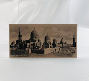 Postcard Souvenir of Egypt, Cairo, The Tombs of the Caliphs 1940's Era Series H Number 404