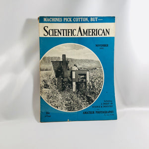 Scientific American Magazine November 1938 Includes A Digest of Science and Industry