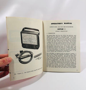 Simpson Instruments that Stay Accurate Operator's Manual for Volt-Ohm-Microammeter MODEL 260, SERIES III Vintage Pamphlet – 1957