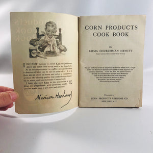 Corn Products Cook Book by Emma  Hewitt A Vintage Advertising Pamphlet circa 1900 Vintage Book
