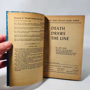 Vintage Paperback Death Draws the Line by Jack Iams Cover Painting by Harry Barton  1949 Dell Book 489