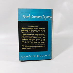 Vintage  Graphic Book Death Commits Bigamy by James M. Fox 1949
