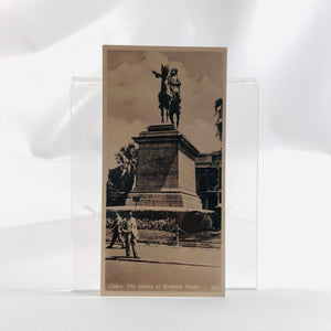 Postcard Souvenir of Egypt, Cairo, The Statue of Ibrahim Pasha, 1940's Era Series H Number 409