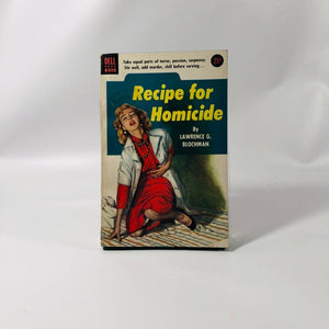 Vintage Paperback Recipe for Homicide by Lawrence G. Blochman 1952 Dell Book 833 Cover Painting by Verne Tossey