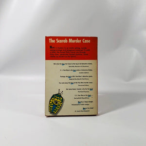 Vintage Paperback Graphic Mystery Classic The Scarab Murder Case by S.S. Van Dine 1954