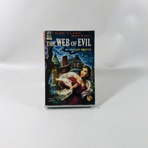 Vintage Paperback The Web of Evil by Lucille Emerick Cover Painting by Robert Stanley 1945 A Dell Book 479