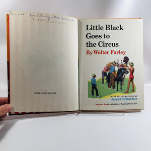 Vintage Beginner Books Little Black Goes to the Circus! by Walter Farley Author of The Black Stallion A Vintage Book