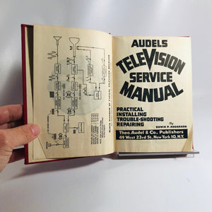 Vintage Audels Television Service Manual Practical Installing Trouble-Shooting Repairing by E.P.Anderson 1953