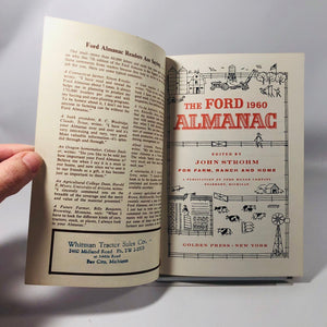 The Ford Almanac 1960 For Farm Ranch and Home Edited by John Strohm Published by the Ford Motor Company