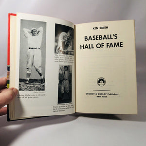 Baseballs Hall of Fame by Ken Smith 1966 A Vintage Sport Statistic Book