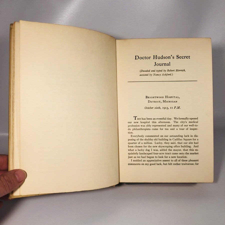 Doctor Hudson's Secret Journal by Lloyd C Douglas 1939 First Edition Fictional Book