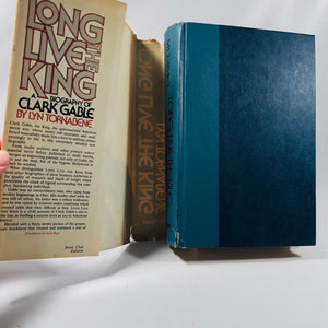 The Autobiography of Clark Gable Long Live the King by Lyn Tornbene 1976 A Vintage Book