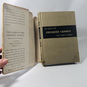 The Case of the Crooked Candle By Erle Stanley Gardner 1944 A First Edition Mystery Book