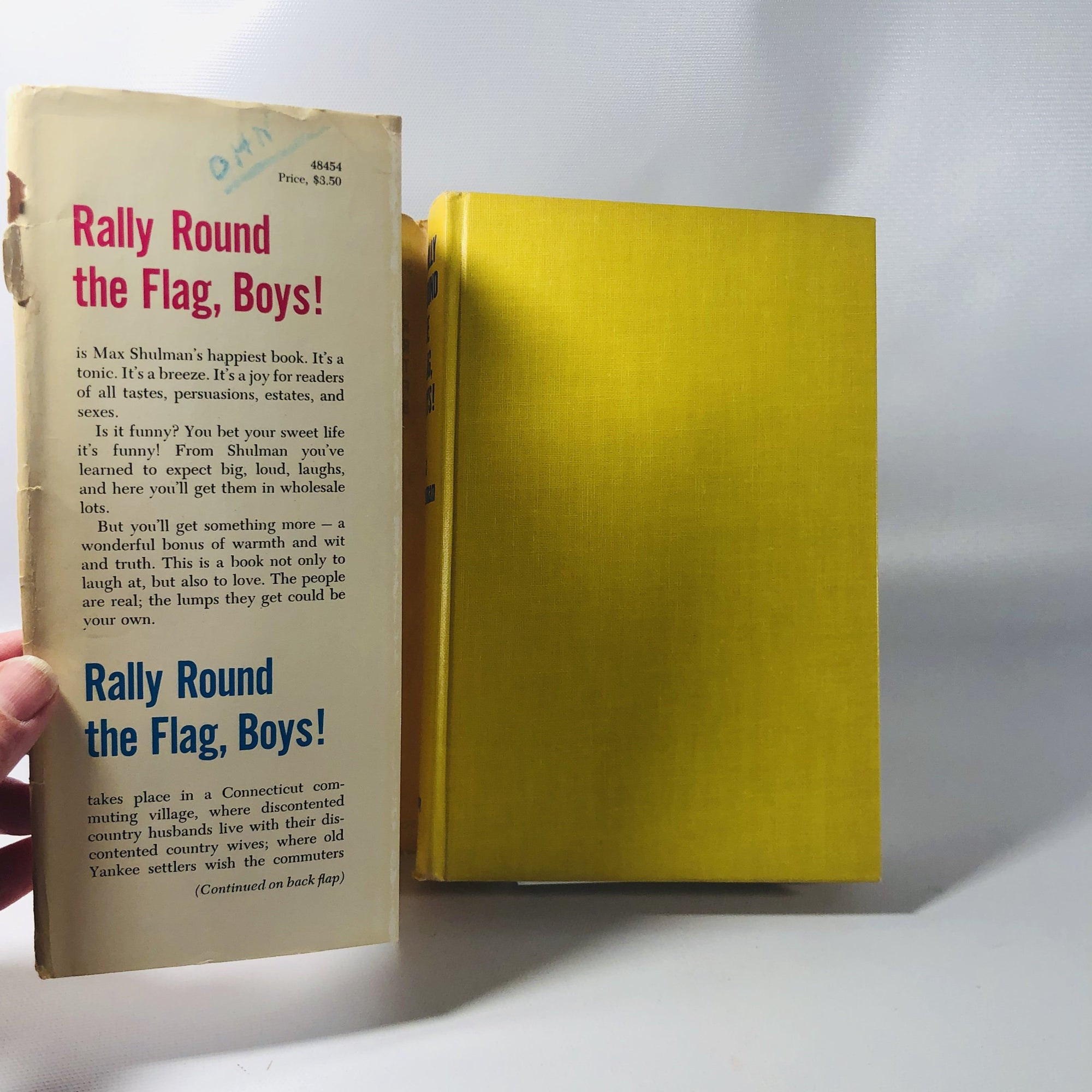Rally Round the Flag Boys! by Max Shulman  1957 A Vintage War Time Book