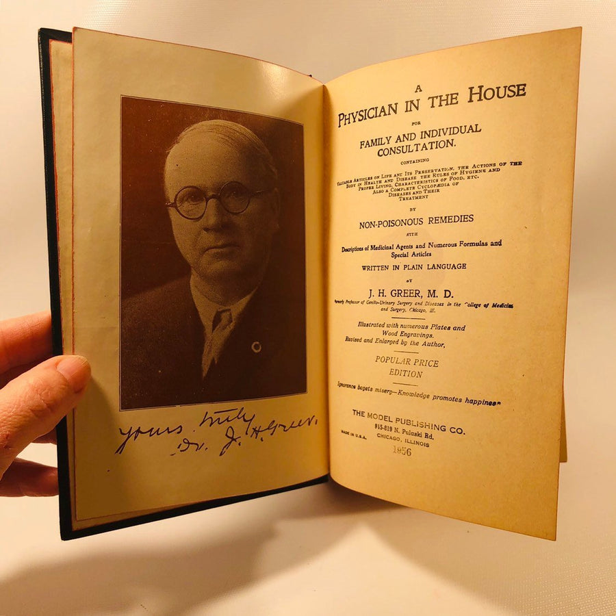 A Physician in the House for Family and Individual Consultation  by JH Greer 1956 Vintage Medical Book with Illustrations of the Human Body