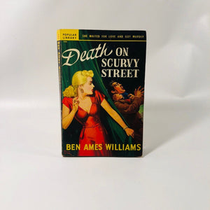 Vintage Paperback Death on Scurvy Street by Ben Ames Williams 1949 Popular Library Number 194