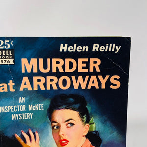 Vintage Paperbacks Murder at Arroways by Helen Reilly Cover Painting by Eddie Chan 1950 A Dell Book 576