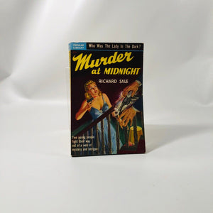 Vintage Paperback Murder at Midnight by Richard Sale 1950 Popular Library Book Number 275