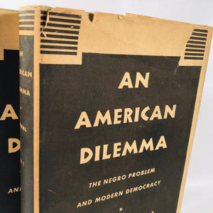An American Dilemma The Negro Problem and Modern Democracy Volume 1 and 2 Gunnar Myrdal Book 4th Edition G-T 1944