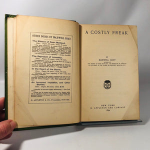 A Costly Freak by Maxwell Gray 1894 A First Edition Book