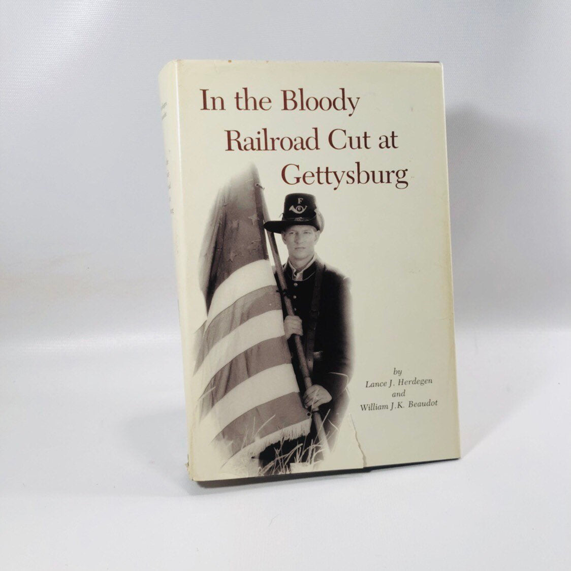 In the Bloody Railroad Cut at Gettysburg by Lance J. Herdegen History Book 1990