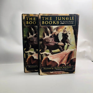 The Jungle Books by Rudyard Kipling Illustrated by Aldren Watson 1948