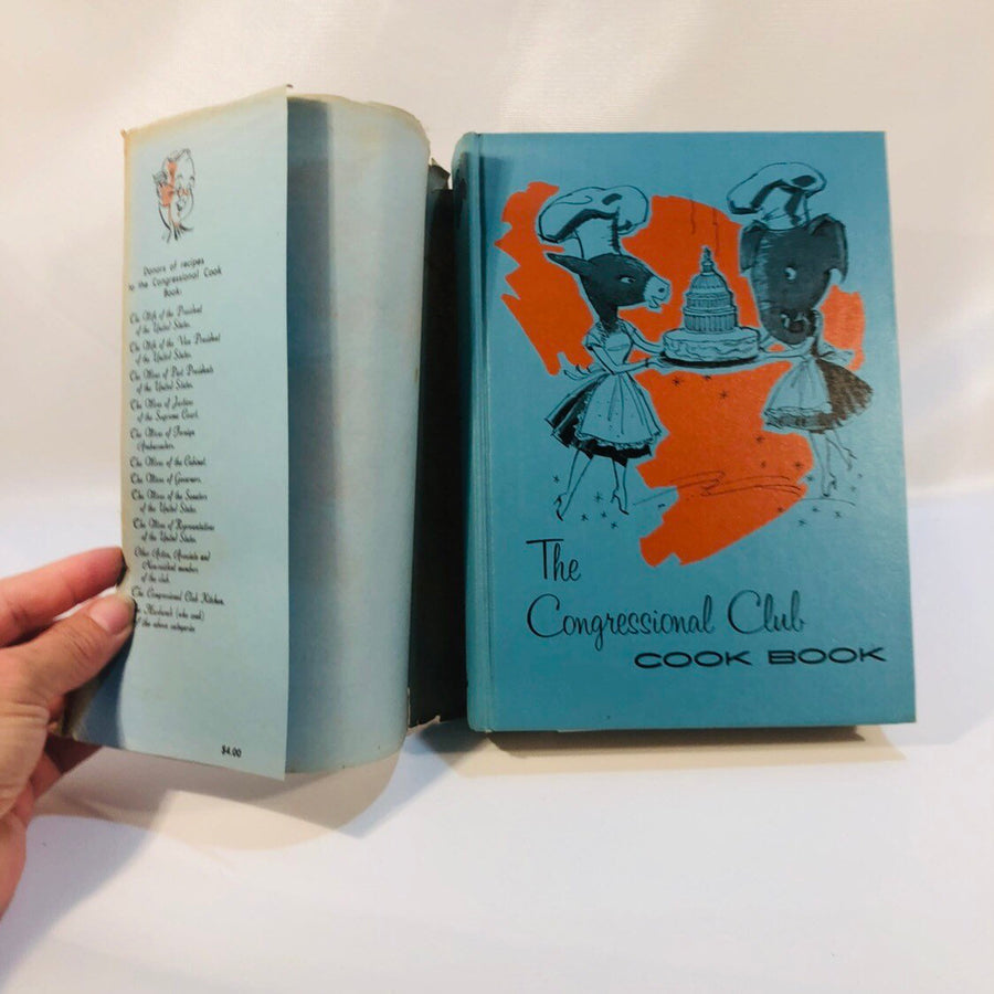 The Congressional Club Cookbook  Published by the Congressional Club Washington 1965
