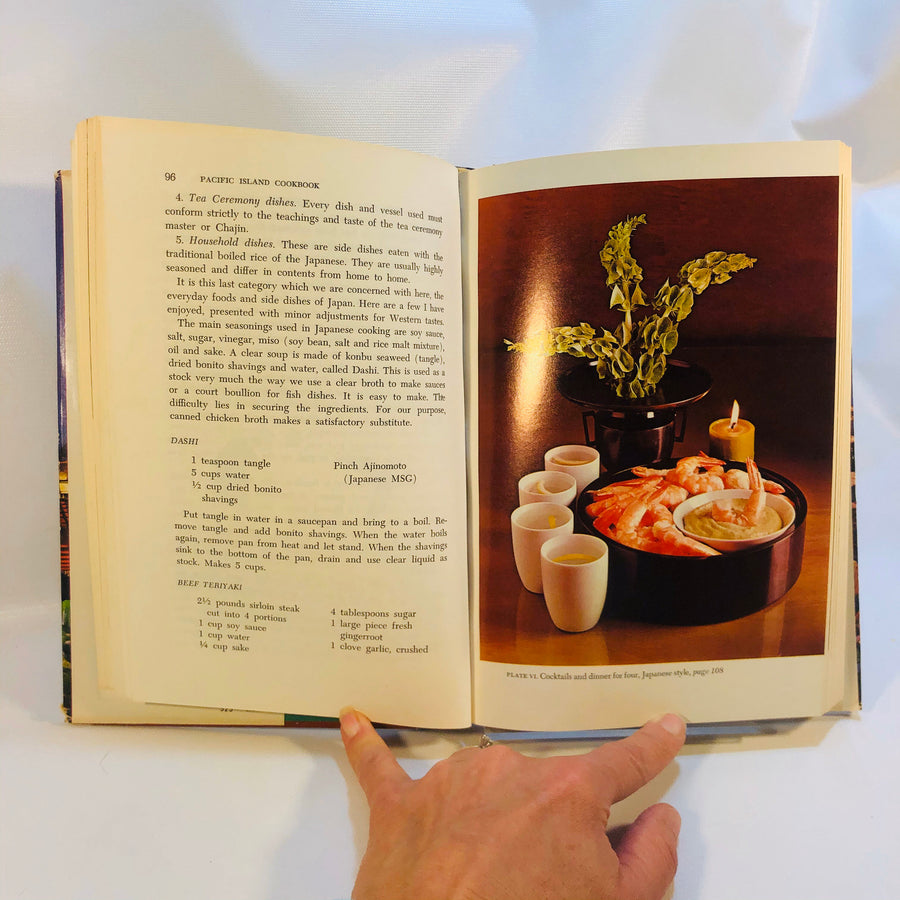 Trader Vic's Pacific Island Cookbook with Side Trips to Hong Kong Asia and Texas 1968