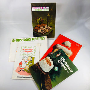 Christmas Recipes Consumers Power 1968-1972  5 Pamphlets