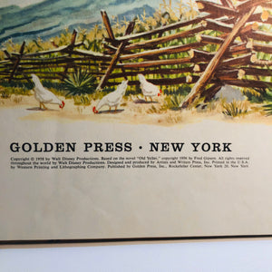 Walt Disney's Old Yeller A Big Golden Book by Fred Gipson Pictures by Walt Disney 1958
