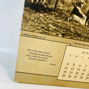 Bonnie Scotland Calendar 1950 published by The Wilkinson Publishing Co.