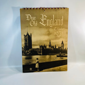 Dear Old England Calendar 1951 published by The Wilkinson Publishing Co.