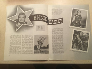 Gene Autry Souvenir Program, featuring Annie Oakley published in 1955