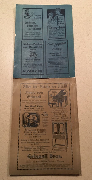 2-Monthly Calendar of the Detroiter Abedposnt 1927 &1929 In German