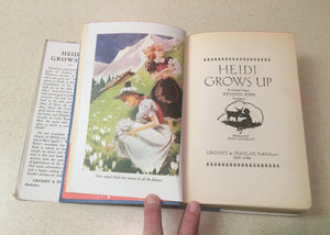 Heidi Grows Up,A Sequel to Heidi by  Charles Tritten-1938 .A Vintage Book