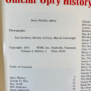 WSM Grand Ole Opry History Picture Book 1974-Reading Vintage