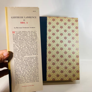 Gertrude Lawerence as Mrs. A by Richard Aldrich 1954-Reading Vintage