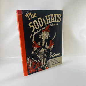The 500 Hats of Bartholomew Cubbin's by Dr. Seuss 1938-Reading Vintage