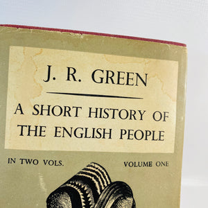 A Short History of The English People by J.R. Green Vol. One 1952