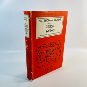 Regilo Medici by Thomas Browne 1959 Everyman's Library-Reading Vintage