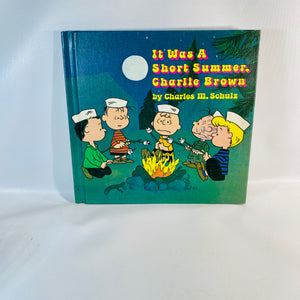 It was a Short Summer Charlie Brown Charles Schulz 1970-Reading Vintage