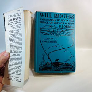 Will Rogers Ambassador of Good Will by P.J. Thomas 1935-Reading Vintage