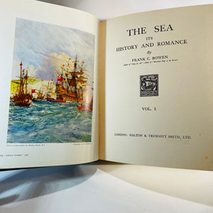 The Sea its History & Romance by Frank C. Bowen Halton & Truscott Smith, 1924-1926