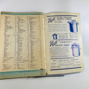 Blue Ball Book of Canning & Preserving Ed. TY-3 1938-Reading Vintage