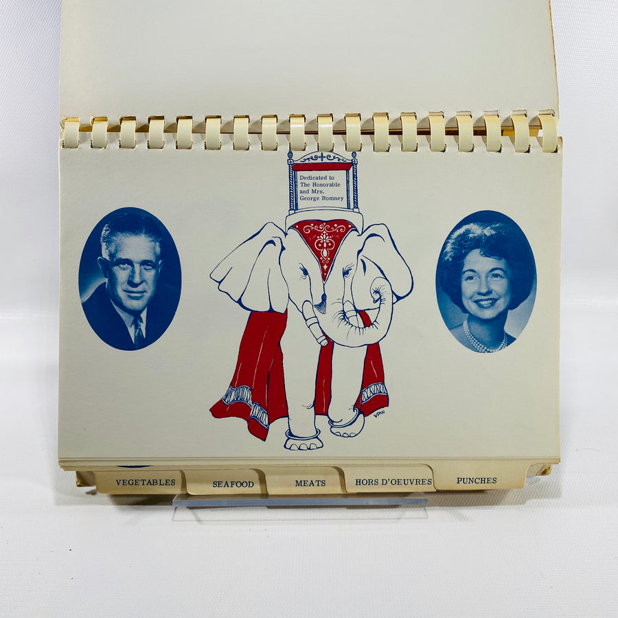 Michigan Republican Women's Party Cookbook Dedicated to Governor and Mrs. George Romney