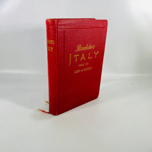 Baedeker's Italy from the Alps to Naples by Karl Baedeker 1909-Reading Vintage