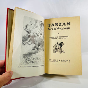 Tarzan Lord of the Jungle by Edgar Rice Burroughs 1928-Reading Vintage